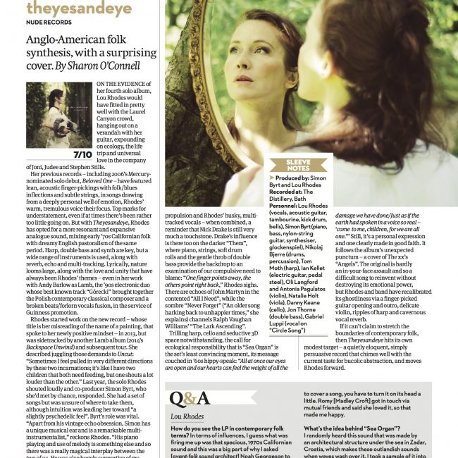 First review for 'theyesandeye' in Uncut